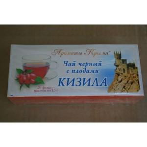 Чай в пакетиках Черный с плодами Кизила 30 гр.
