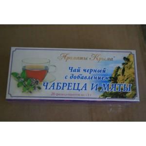 Чай в пакетиках Черный с чабрецом и мятой 30 гр.