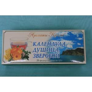 Чай в пакетиках Календула Душица Зверобой 30 гр.