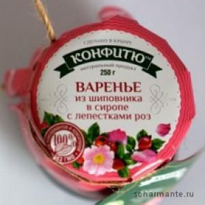 Крымское варенье Варенье кизил с лепестками роз 310 гр.