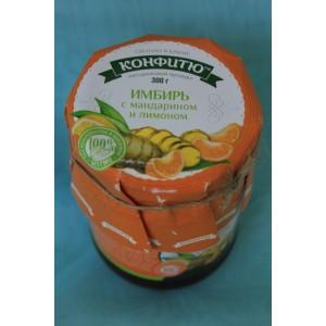 Крымское варенье Варенье имбирь с апельсином и лимоном 300 гр.