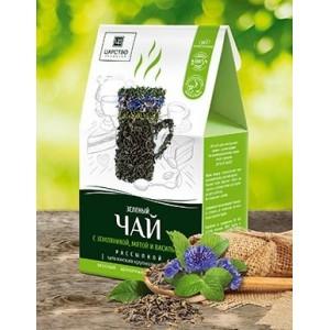 Травяной чай Зеленый чай с земляникой, мятой и васильком 150г