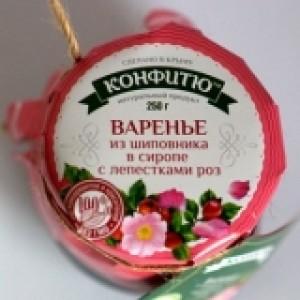 Крымское варенье Варенье шиповник в розовом сиропе 250 гр.